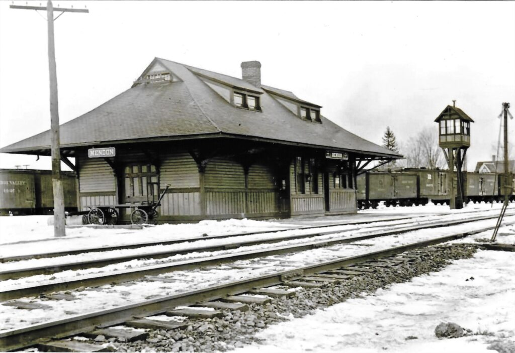 Mendon Depot, undated. Honeoye Falls - Town of Mendon Historical Society Collection.