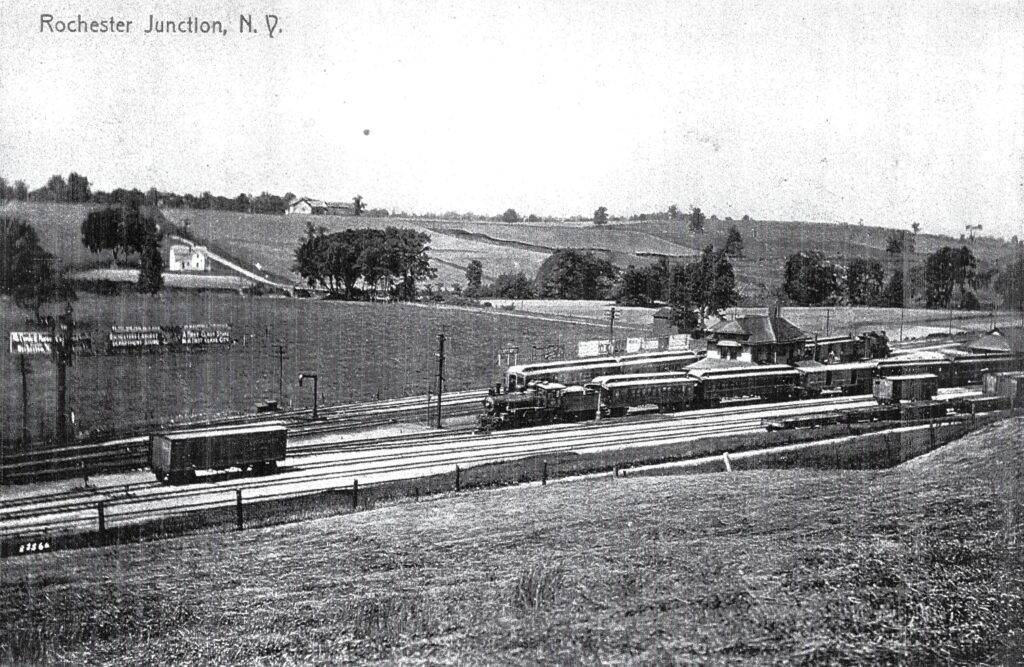 Rochester Junction postcard, undated. Honeoye Falls - Town of Mendon Historical Society Collection.