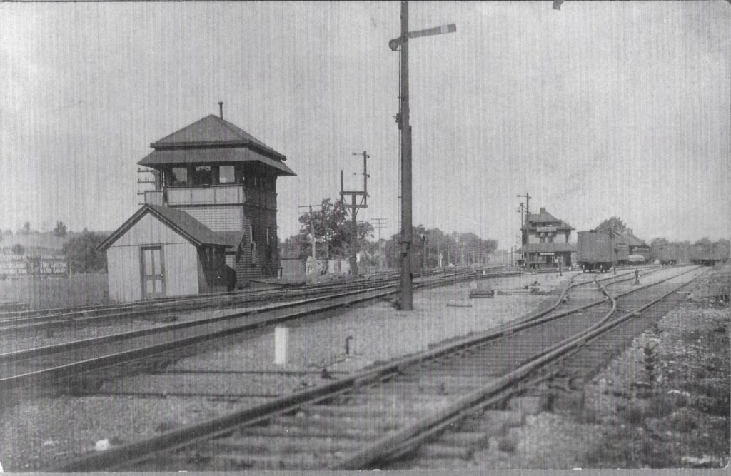 Rochester Junction, summer 1906. Honeoye Falls - Town of Mendon Historical Society Collection.