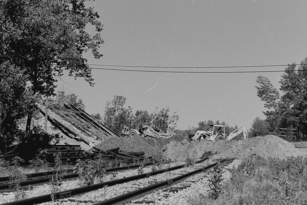 The demolition of the Clover Street Lehigh Valley RR overpass. June 21, 1977. Paul J. Templeton photo.