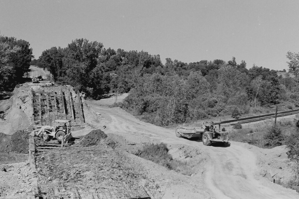 Another shot of the demolition of the Clover Street Lehigh Valley RR overpass. June 21, 1977. Paul J. Templeton photo.