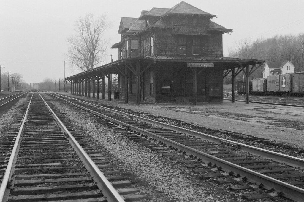 Lehigh Valley Railroad Rochester Junction station, April, 1969. Paul J. Templeton photo.