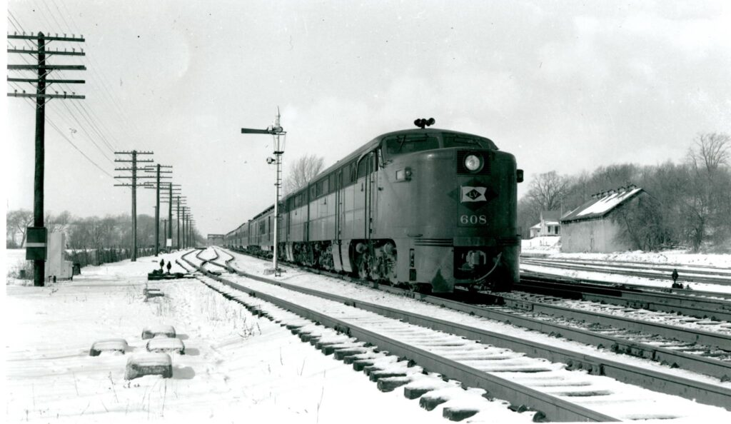 Lehigh Valley Black Diamond, Eastbound at Rochester Junction, Early 1950s. Douglas Morgan Collection.