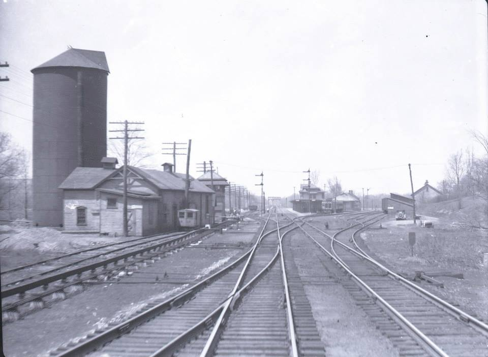Westbound view of Rochester Junction, 1930s. John W. Barriger III National Railroad Library Collection.