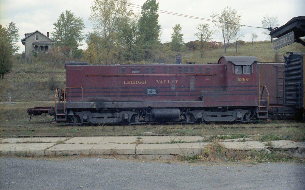 Rochester Junction, Baldwin S-12 on Rochester branch tracks, 1960s. John Marshall photo.