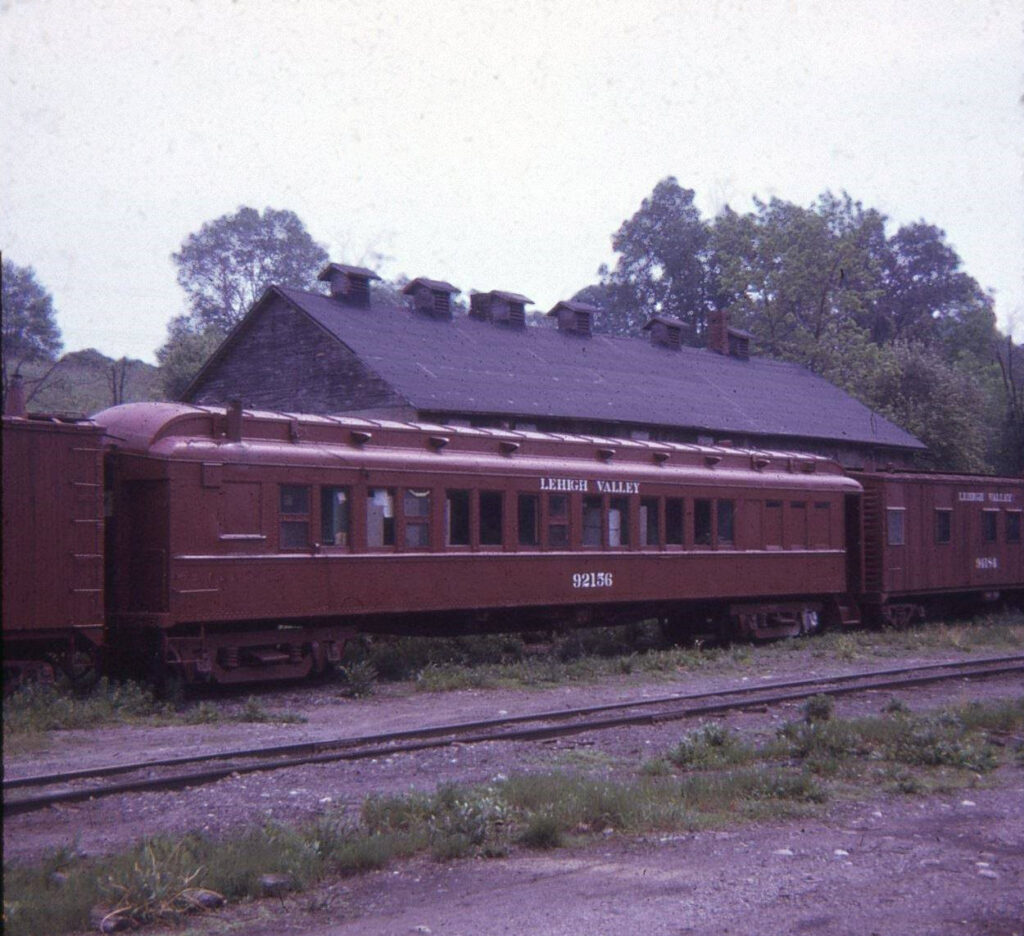The ice house/potato warehouse at Rochester Junction, behind the MOW/Passenger car. Date unknown. Photo by Bernd Fanghanel.